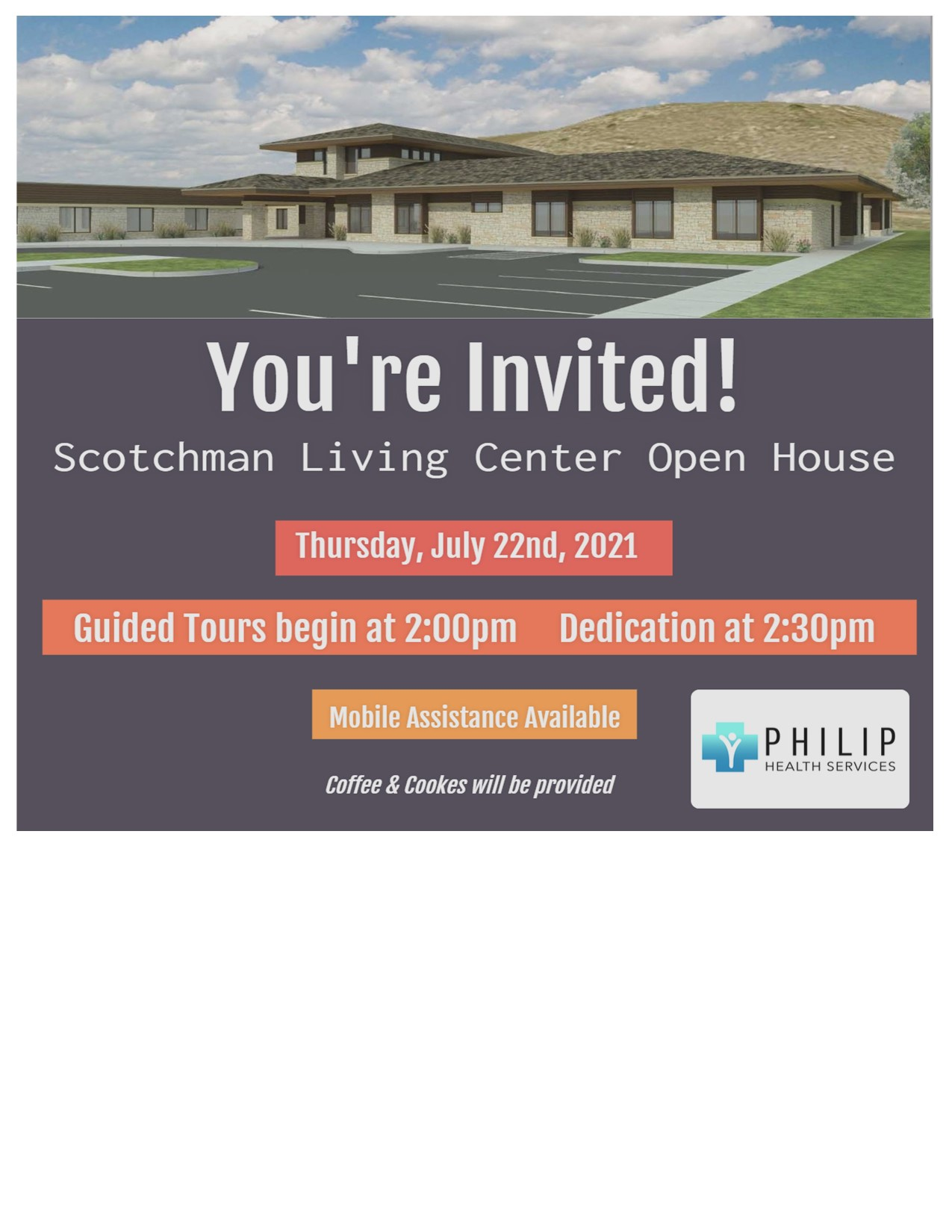 Philip Health Services To Have Open House & Dedication for Scotchman Living Center Addition
